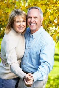 Older Couple Leaves